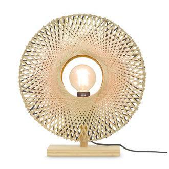 Good&Mojo Table lamp Kalimantan bamboo vertical dia.44cm bl./nat, S