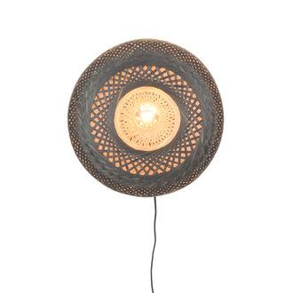 Good&Mojo Wandlamp Palawan 40cm naturel/zwart S