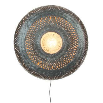 Good&Mojo Wandlamp Palawan 60cm naturel/zwart L