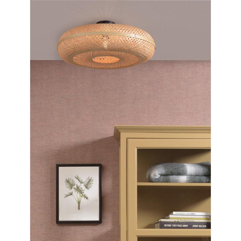 Good&Mojo-collectie Ceiling lamp Palawan 60x15cm nat, L