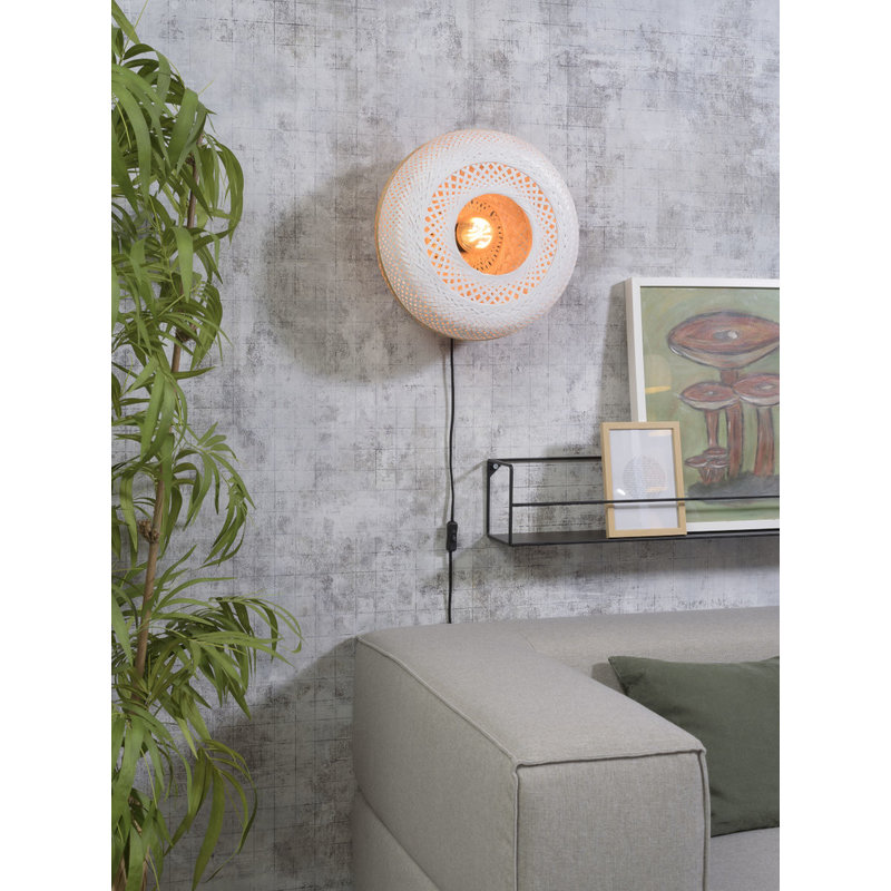 Good&Mojo-collectie Wall lamp Palawan 40x15cm nat./white, S