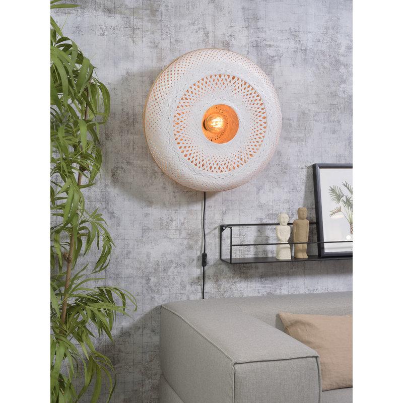 Good&Mojo-collectie Wandlamp Palawan 60cm naturel/wit L