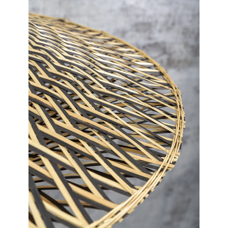 Good&Mojo-collectie Plafonniere Bali 44cm zwart/naturel S