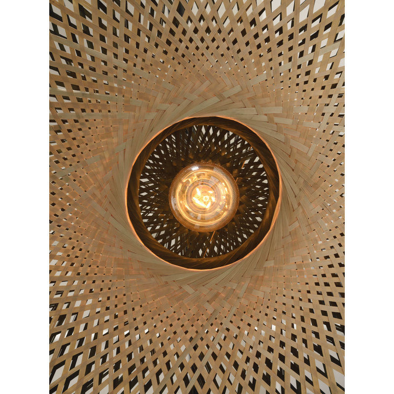 Good&Mojo-collectie Ceiling lamp Kalimantan dia.60x15cm black/natural, M