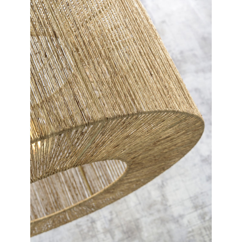 Good&Mojo-collectie Ceiling lamp Iguazu jute round dia.60x25cm natural, L