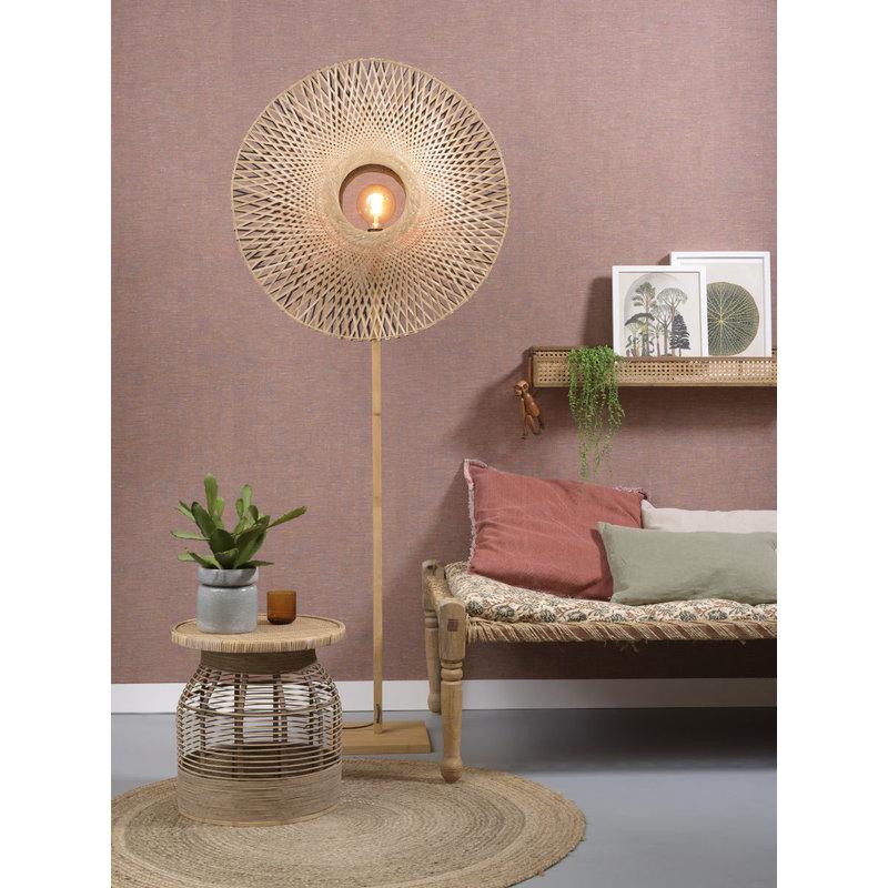 Good&Mojo-collectie Floor lamp Kalimantan  nat./shade vertic. 87x20cm b/n, L