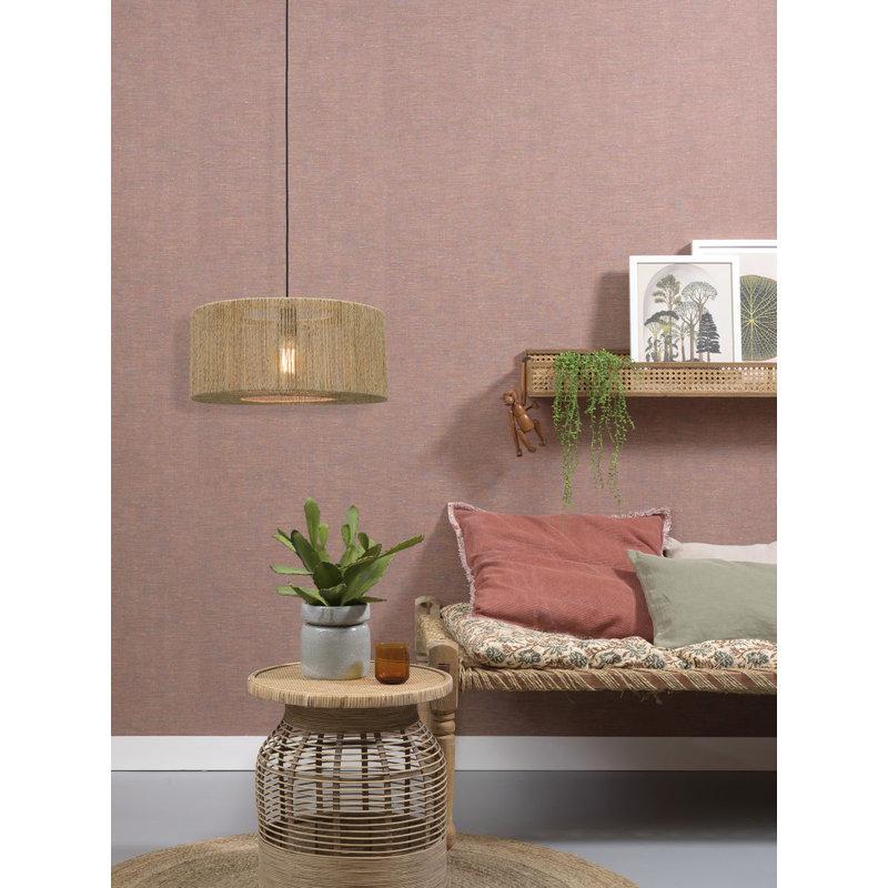 Good&Mojo-collectie Hanging lamp Iguazu jute round dia.50x22cm natural, S