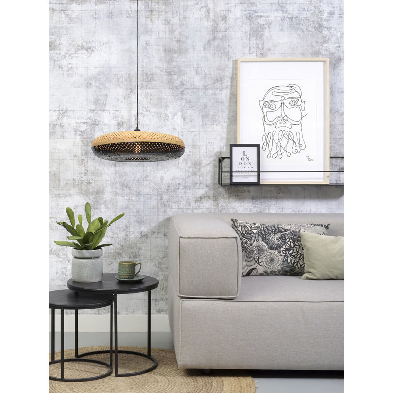 Good&Mojo-collectie Hanging lamp Palawan 60x15cm nat./black, L