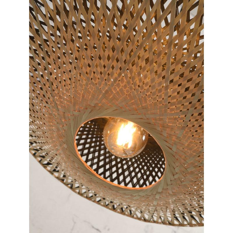 Good&Mojo-collectie Wall lamp Kalimantan bamboo nat./shade 44x12cm bl./nat. S