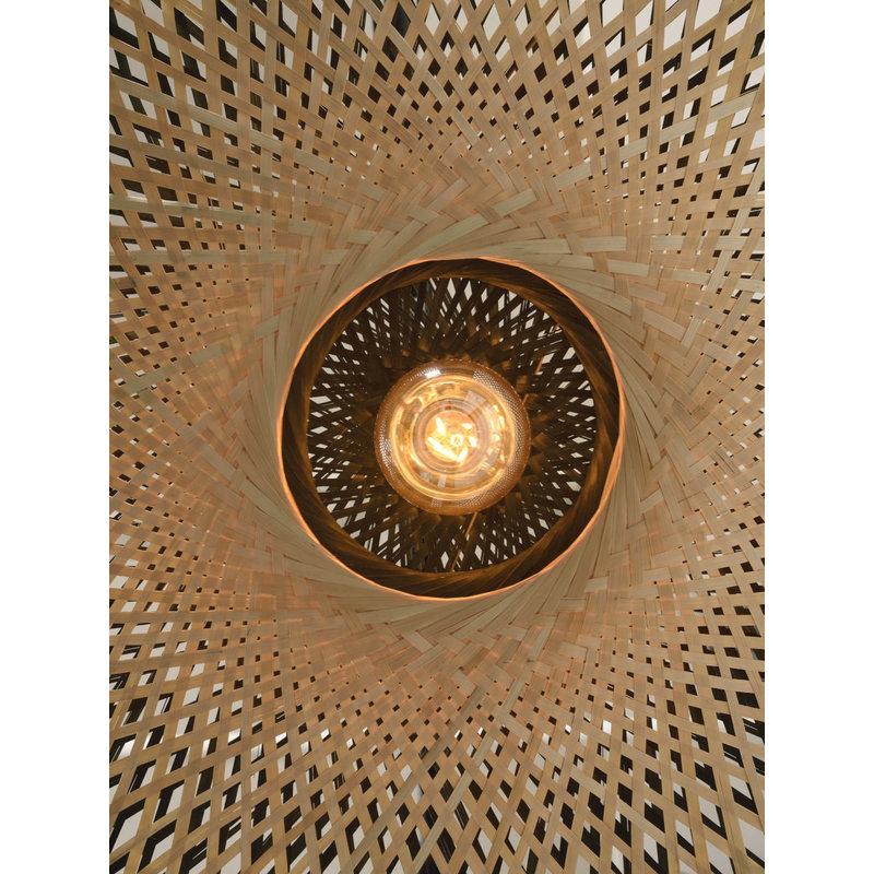 Good&Mojo-collectie Wall lamp Kalimantan nat./shade dia.60x15cm bl./nat. L