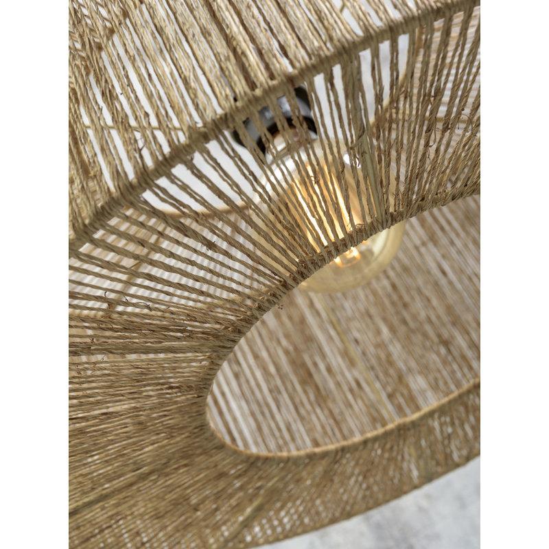 Good&Mojo-collectie Hanging lamp Iguazu jute round dia.60x25cm natural, L