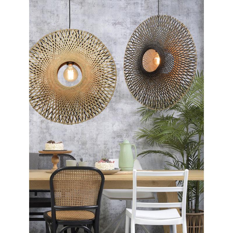 Good&Mojo-collectie Hanging lamp Kalimantan vertical dia.87x20cm bl./nat. L
