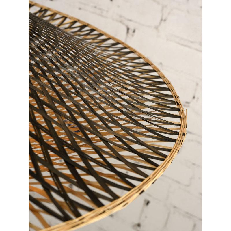 Good&Mojo-collectie Wall lamp Kalimantan bamb. bl./shade horiz. 60x15cm b/n, L