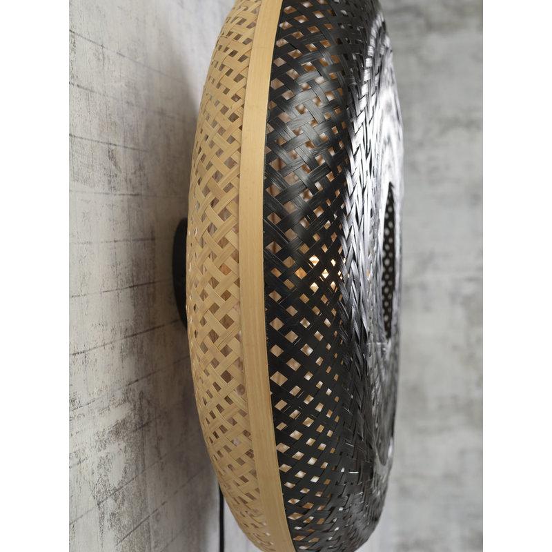 Good&Mojo-collectie Wandlamp Palawan 60cm naturel/zwart L