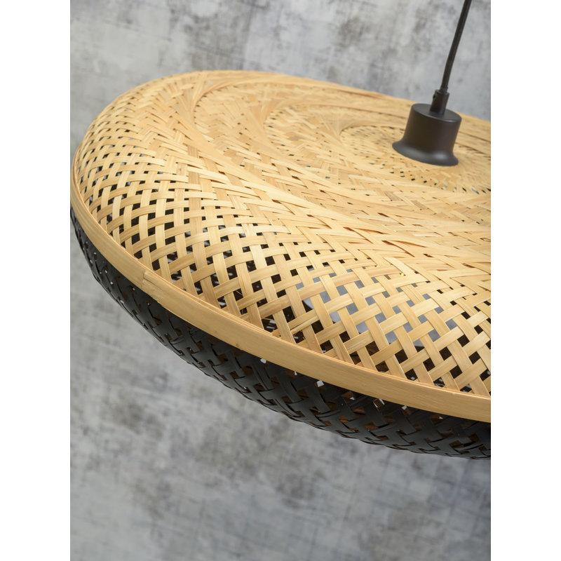 Good&Mojo-collectie Hanglamp Palawan 60cm naturel/zwart L