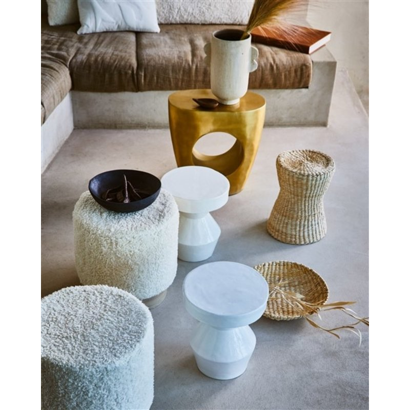 Urban Nature Culture-collectie Side Table Ecomix Sculptural, White