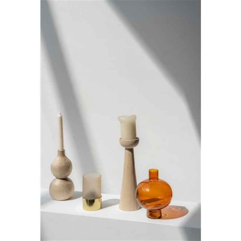 Urban Nature Culture-collectie Candle Holder Wood Bulb