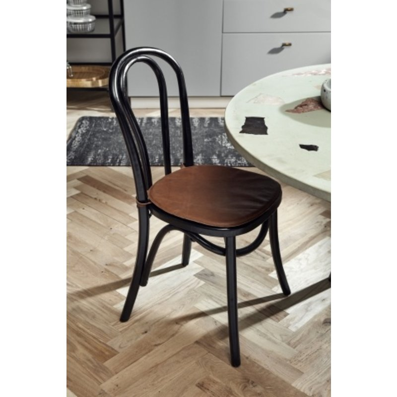Nordal-collectie Bistro chair shiny black