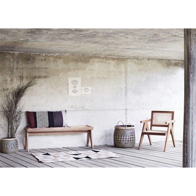 Madam Stoltz-collectie Webbing  lounge stoel