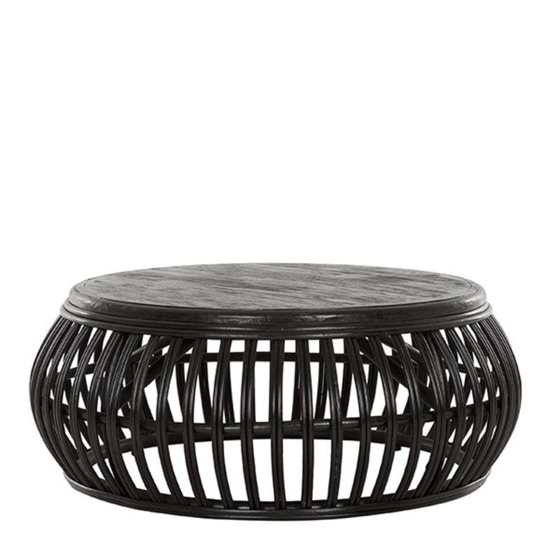 MUST Living-collectie Salontafel zwart rotan Positano
