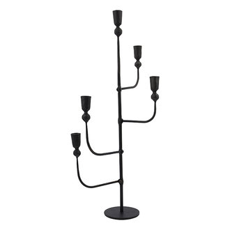 House Doctor Candle stand w. 5 cups Ira Black (candle/dia: 23cm) Handmade