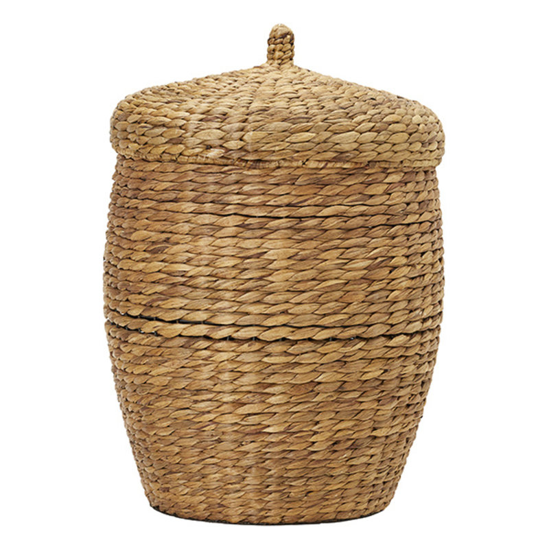 House Doctor-collectie House Doctor  Basket w. lid Aske Natural h: 60 cm dia: 45 cm