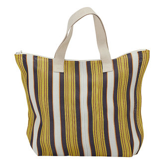 House Doctor Bag/Shopper Recy Yellow/Brown Colour may vary
