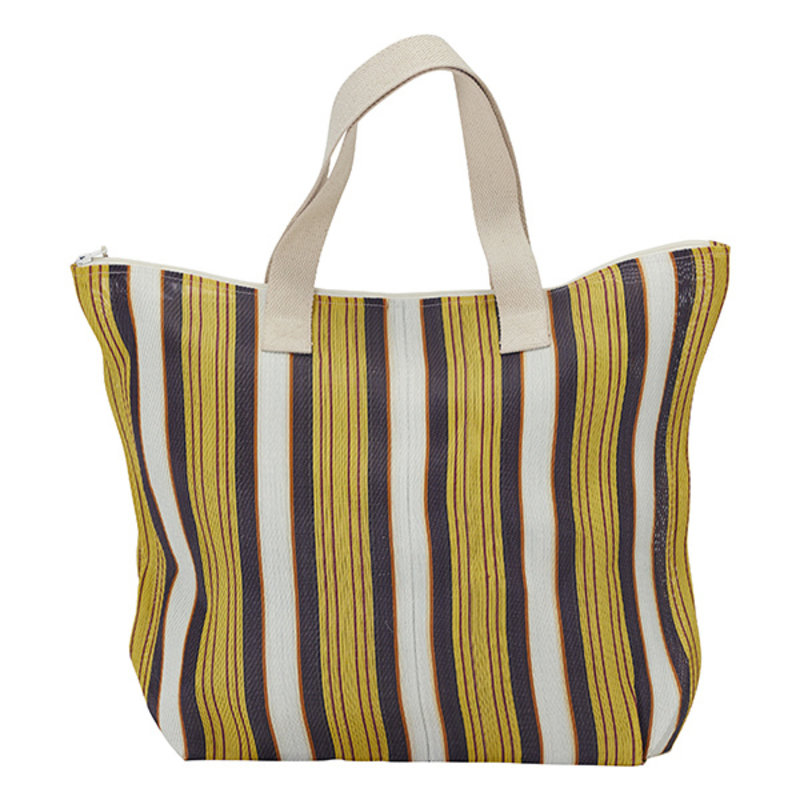 House Doctor-collectie House Doctor  Bag/Shopper Recy Yellow/Brown Colour may vary