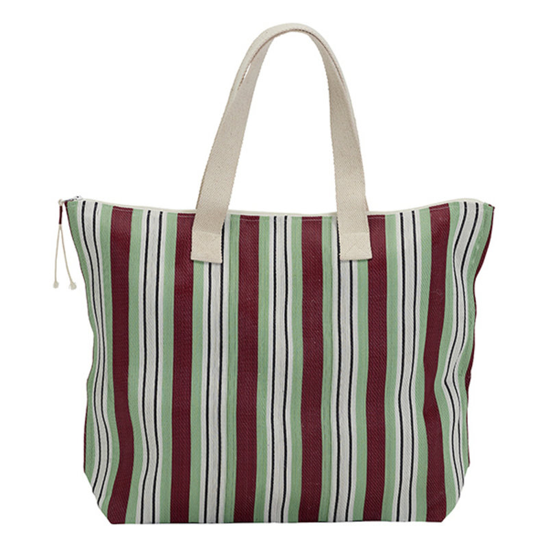 House Doctor-collectie Tas shopper Recy streep rood-groen