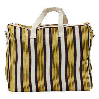 House Doctor Weekend bag Recy Yellow/Brown Colour may vary