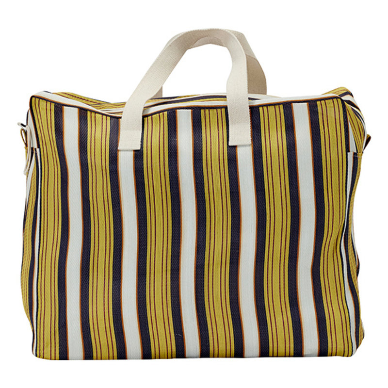 House Doctor-collectie House Doctor  Weekend bag Recy Yellow/Brown Colour may vary