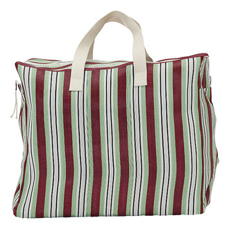 House Doctor Weekend bag Recy Red/Green Colour may vary