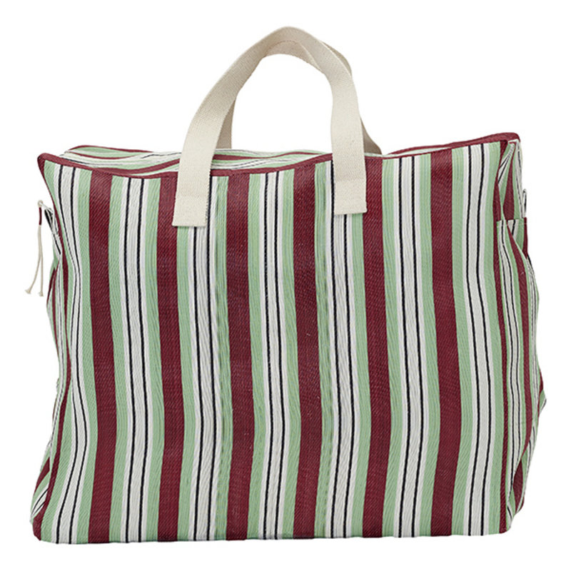 House Doctor-collectie House Doctor  Weekend bag Recy Red/Green Colour may vary