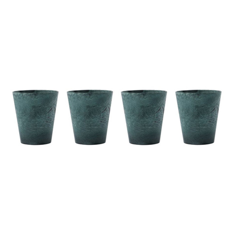 House Doctor-collectie House Doctor  Mug Serveur Green Pack of 4 pcs 250 ml