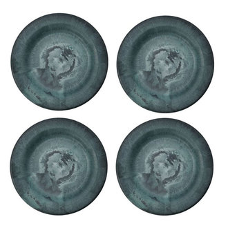 House Doctor Plate Serveur Green Pack of 4 pcs