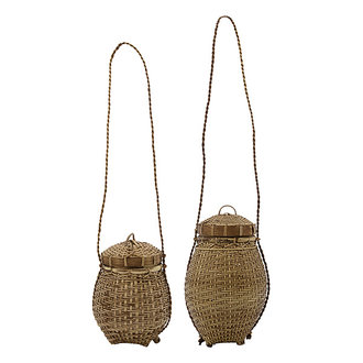 House Doctor Basket Balie Nature Set of 2 sizes Finish/Colour/Size may vary h: 16 cm dia: 18 cm h: 31 cm dia: 18 cm
