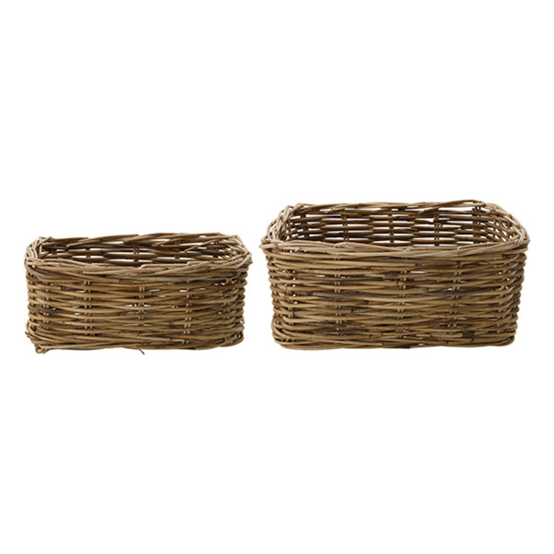 House Doctor-collectie House Doctor  Basket Baskit Natural Set of 2 sizes low