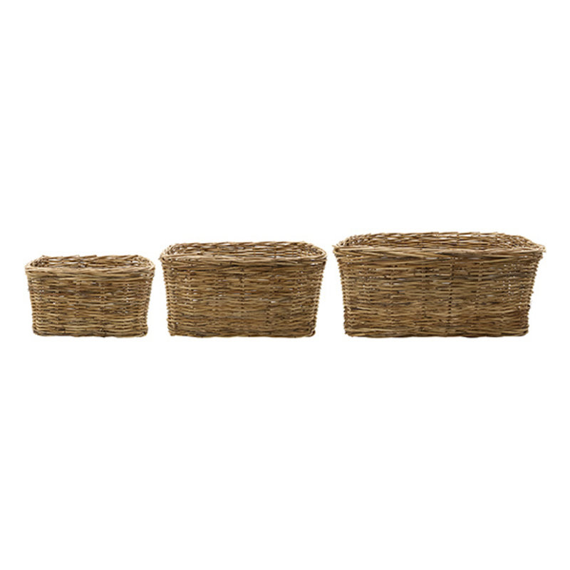 House Doctor-collectie House Doctor  Basket Baskit Natural Set of 3 sizes