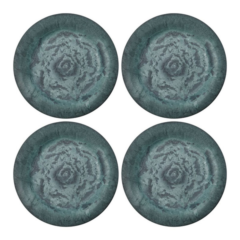 House Doctor-collectie House Doctor  Plate Serveur Green Pack of 4 pcs