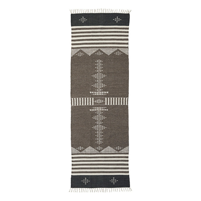 House Doctor-collectie House Doctor  Rug Coto Brown Finish/Colour/Size may vary Handmade  300 x 90