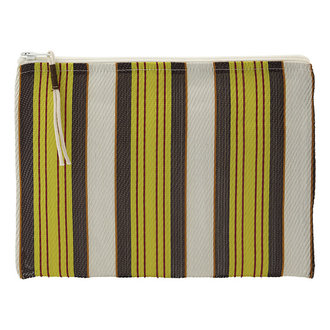 House Doctor Pouch Recy Yellow/Brown Colour may vary l: 27 cm w: 20 cm