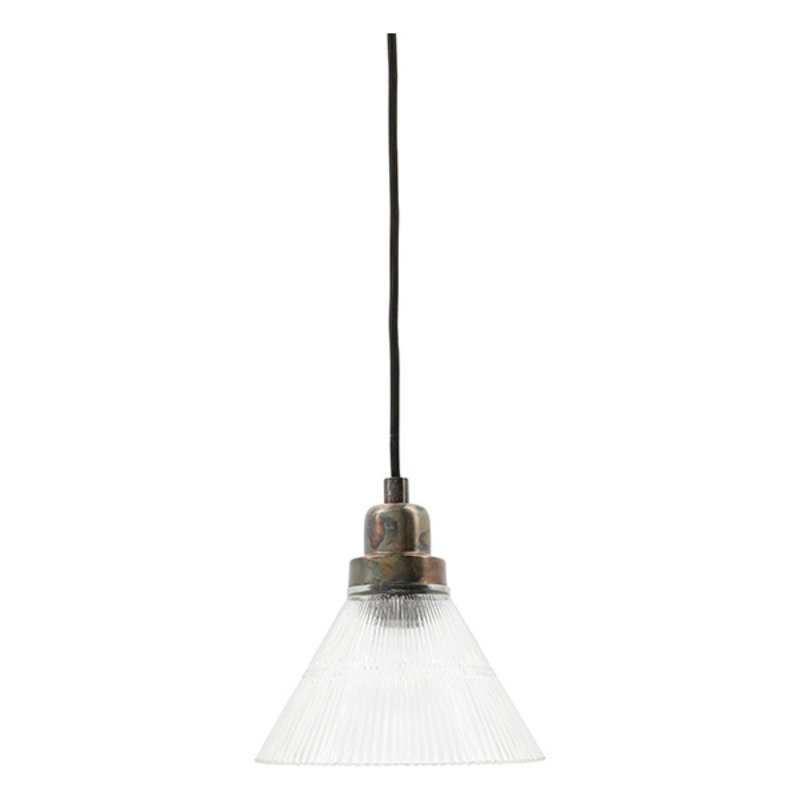 House Doctor-collectie House Doctor  Haninglamp Vira Clear E27 25 W 3 m black fabric cable