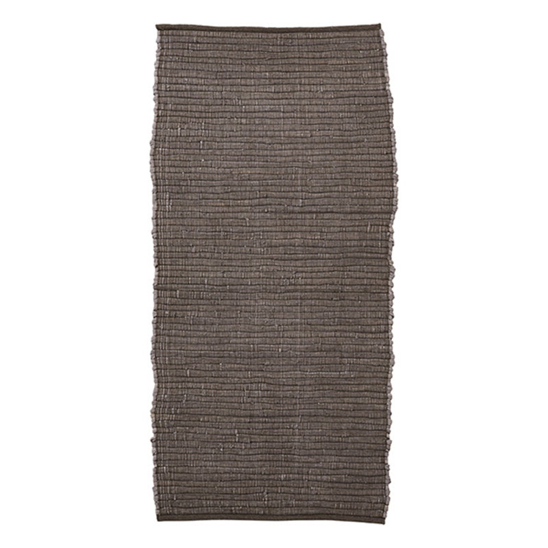 House Doctor-collectie House Doctor  Rug Chindi Brown Handmade Finish may vary 160x70