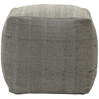 House Doctor Pouf Tabi Grey Finish/Colour may vary 45x45x45