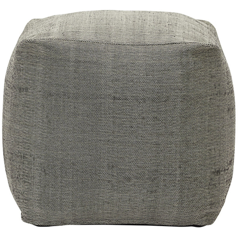 House Doctor-collectie House Doctor  Pouf Tabi Grey Finish/Colour may vary 45x45x45