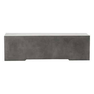 House Doctor Bench Ceme Grey l: 130 cm w: 40 cm h: 38 cm