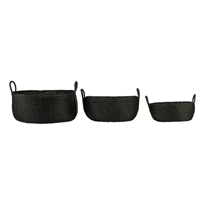 House Doctor-collectie Basket, Carry, Black, Set of 3 sizes