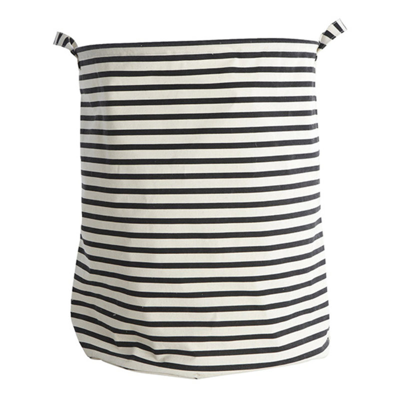 House Doctor-collectie Canvas laundry basket 'Stripe'