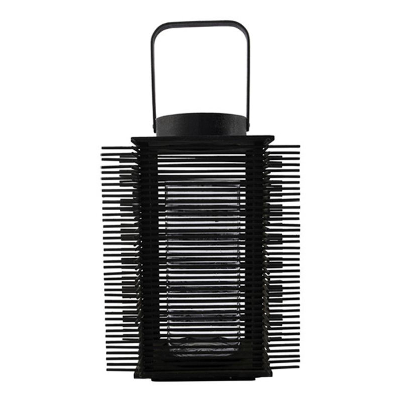 House Doctor-collectie House Doctor  Lantern Asi Black Incl. glass cup