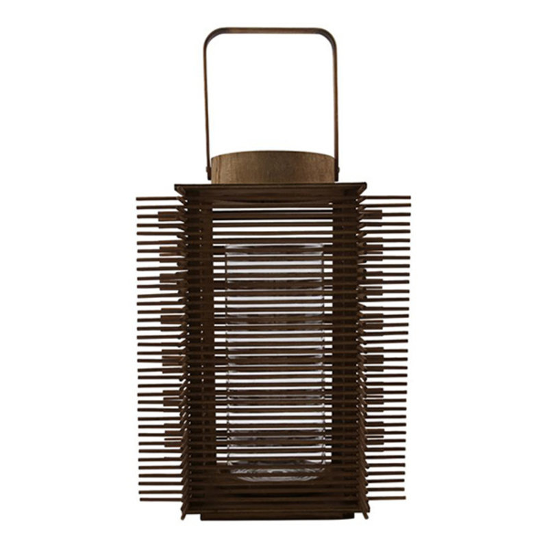 House Doctor-collectie House Doctor  Lantern Asi Natural Incl. glass cup